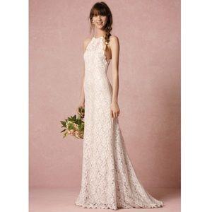 BHLDN Tadashi Shoji Mina Lace Gown Wedding Dress